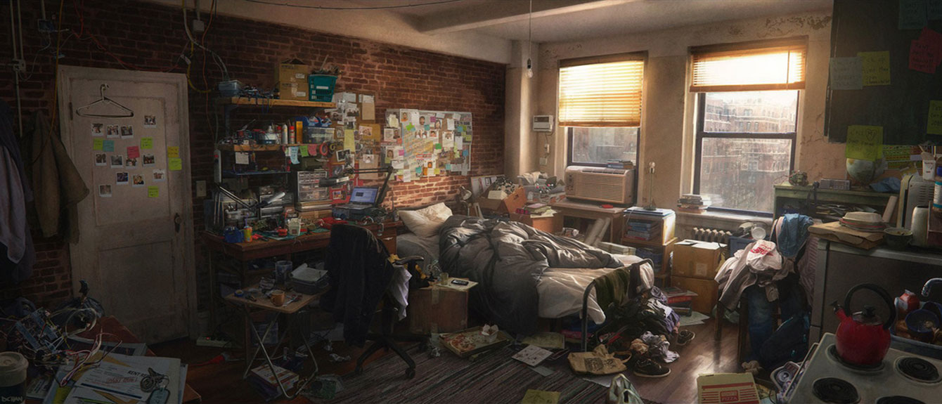 Peter Parker Apartment  Characters  Art  SpiderMan 2018