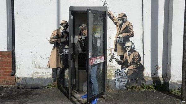 banksy listening post