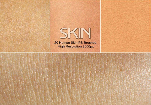 20 Human Skin Photoshop Brush Set Free Download