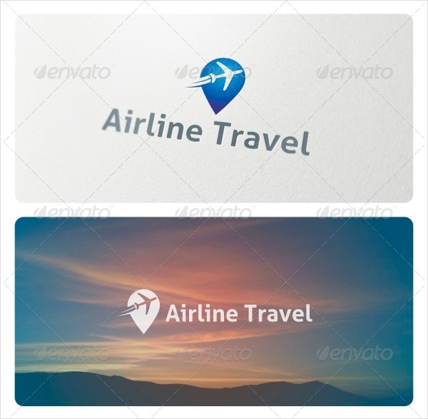 Airline Travel Logo Template