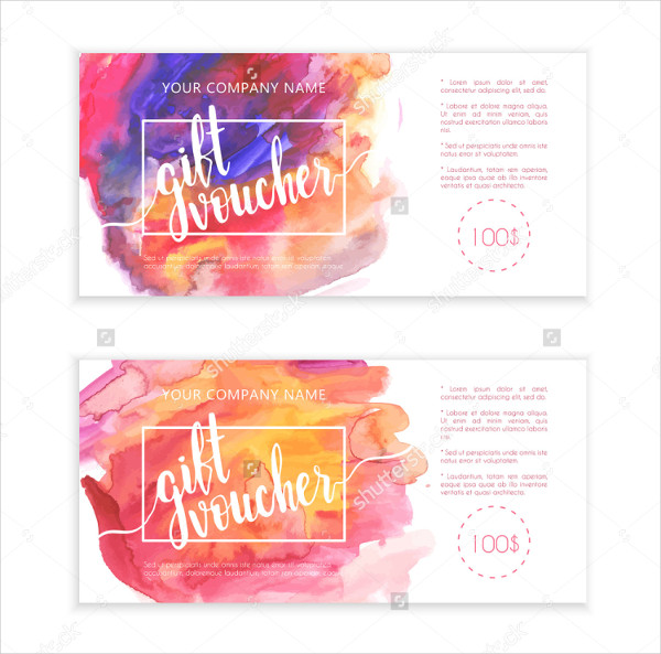 Beautiful Voucher Template Set