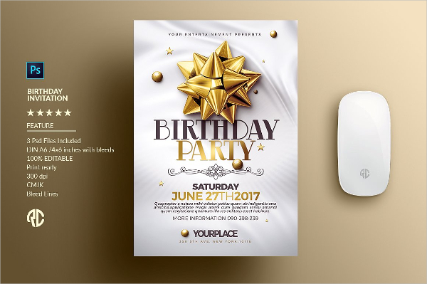 Creative Birthday Invitation Card Templates