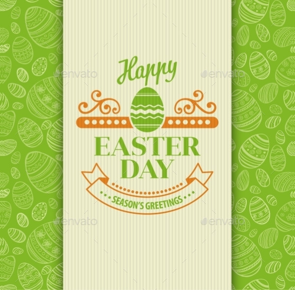 Stylish Easter Day Greeting Card Template
