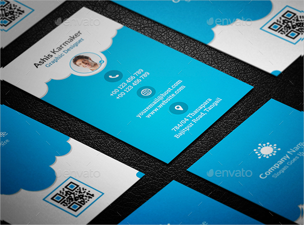 Cloudy Visiting Cards Design