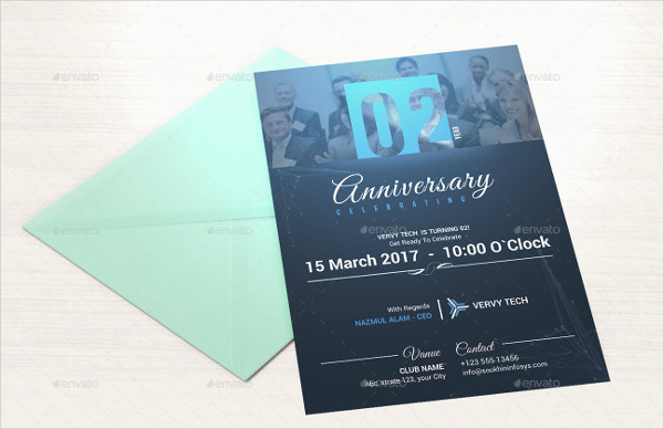 Corporate Anniversary Invitation Template