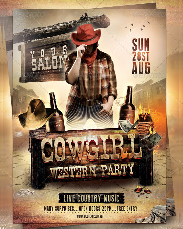 CowGirl Flyer Template