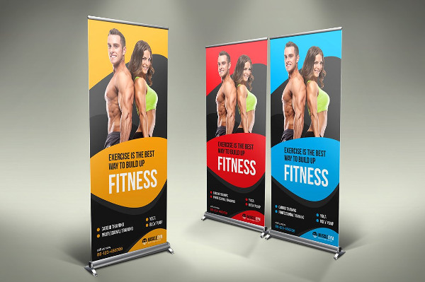 Fitness Roll-Up Banner Design