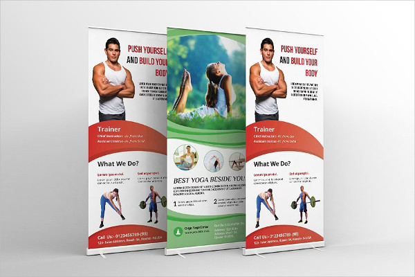 Fitness & Yoga Center Banner Templates