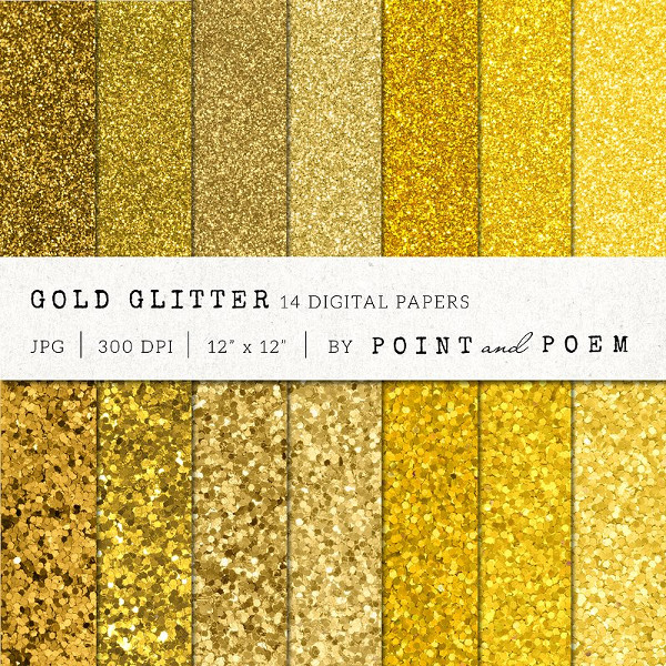 Glamour Gold Glitter Textures