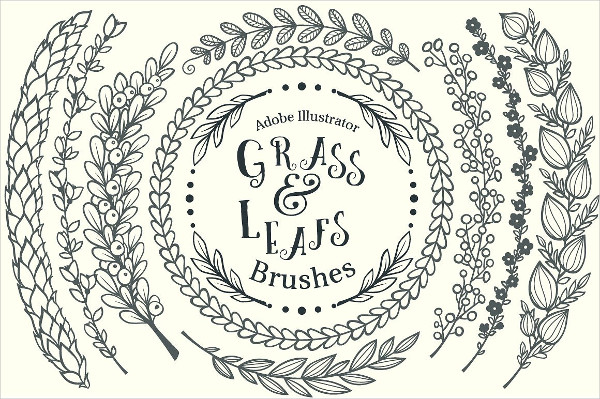 Grass & Leafs Adobe Illustrator Brushes