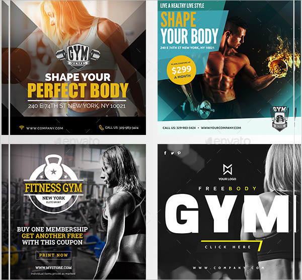 Professional Fitness Banners
