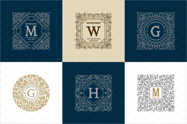 Luxury Company Logos Set