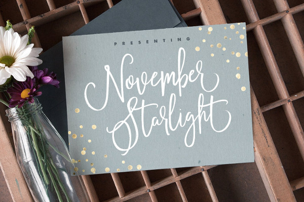November Starlight Romantic Font