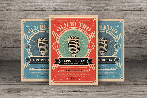 Old Retro Music Flyer Template