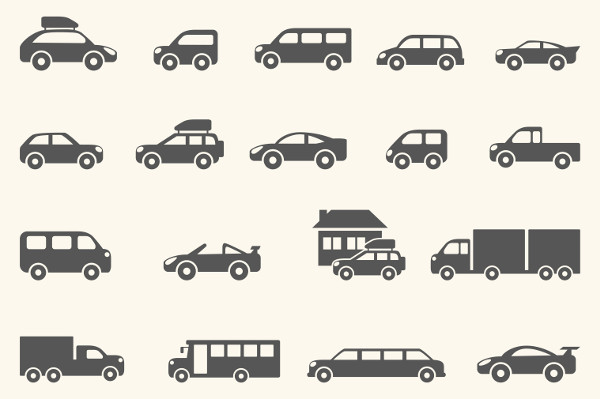 Stylish Vehicle Vector Icons