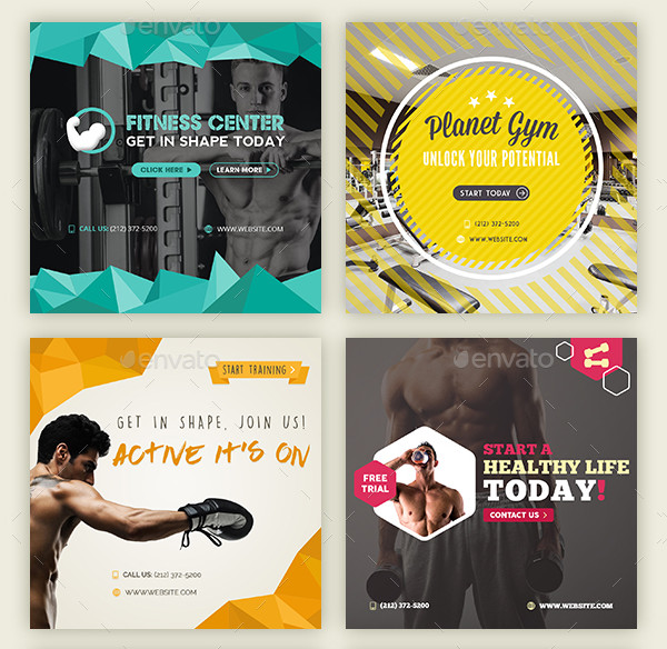 Popular Fitness Banner Templates
