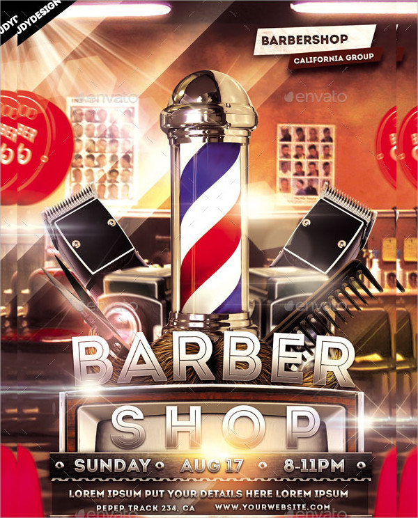 Barber Promotion Flyer Template