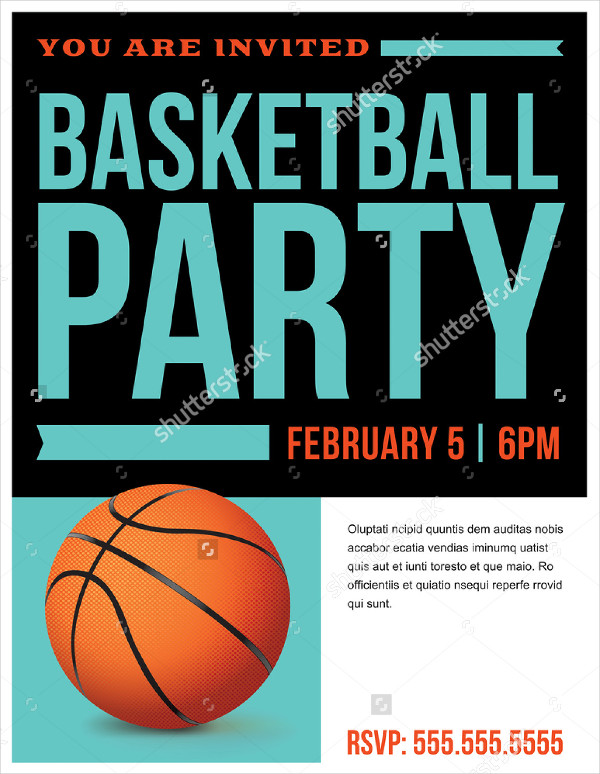 Basketball Party Invitation Template