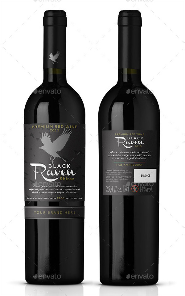 Unique Red Wine Label Design