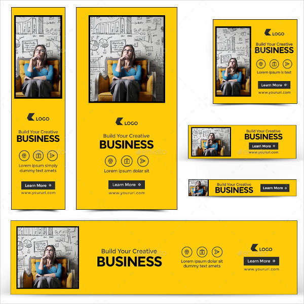 Creative Business Banners Vector