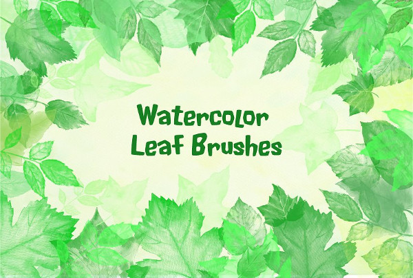 Watercolor Leaf Photoshop Brush Pack