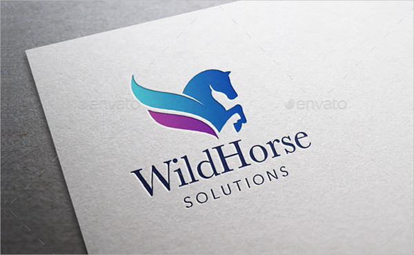 Wild Horse Solutions Logo Template