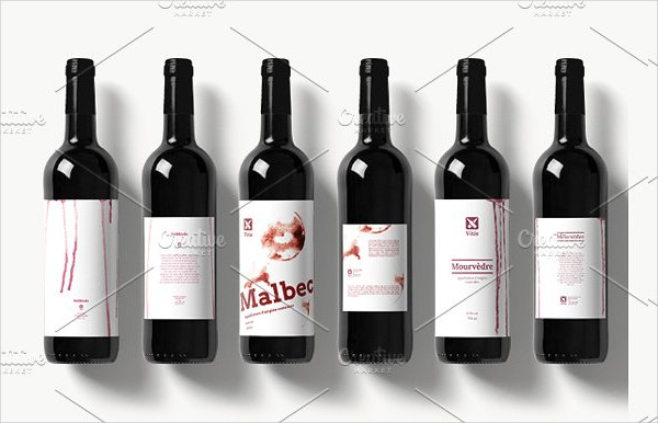 Wine Drip Labels Design Template