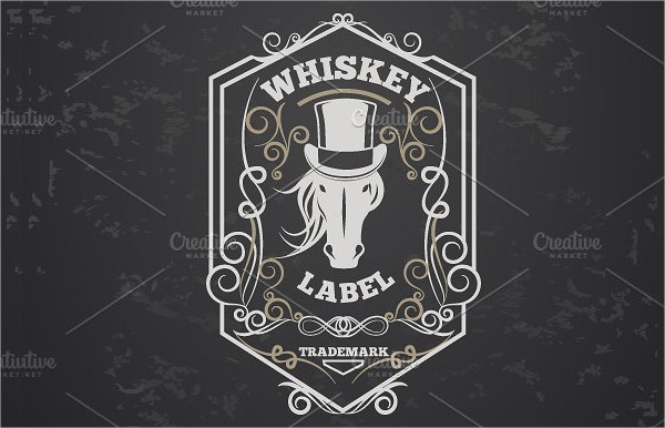 beer old lable template
