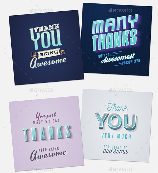 10.5 Vintage Thank You Cards