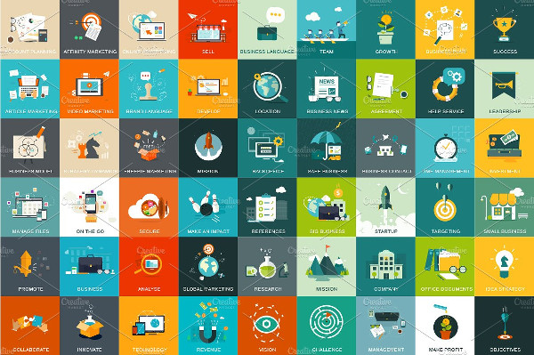 54 Business and Marketing Concept Icon Pack