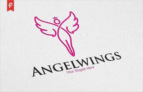 Angel Wings Logo Template
