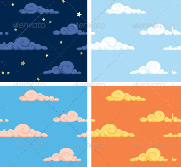 Four Seamless Sky Patterns