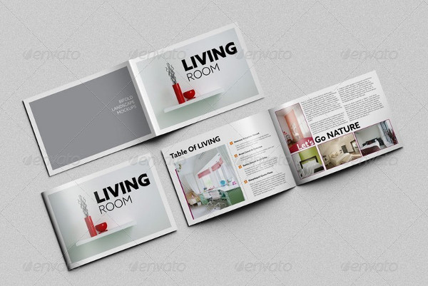 Unique Horizontal Bifold Brochure