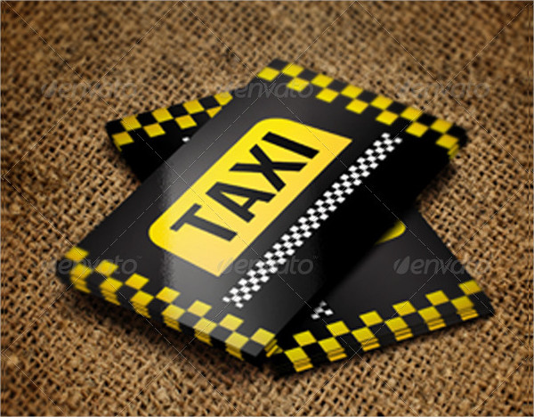 Blackish Taxi Business Card Template