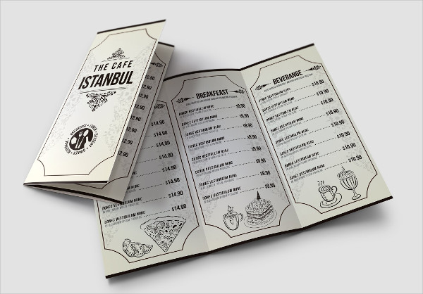 Minimalist Cafe Menu Pack Download