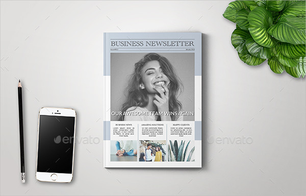 Business InDesign Newsletter Templates