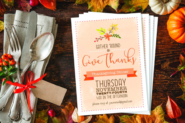 Business Thanksgiving Dinner Party Invite