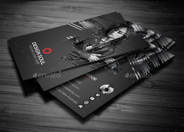 Corporate Photography Business Card Template