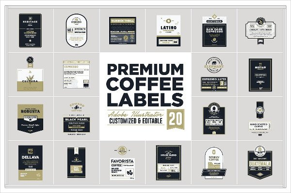 Custom Coffee Labels Template