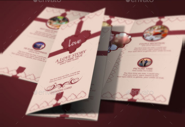 Elegant Trifold Wedding Card Design