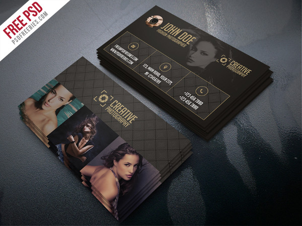 Fashion Photographer Business Card Template Free PSD