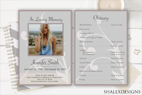 PSD Funeral Service Flyer Templates