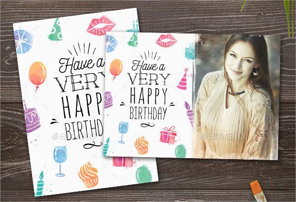 Watercolor Birthday Cards for Her