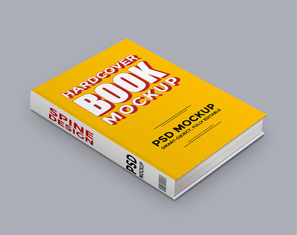 Free Hardcover Book PSD Mock-up
