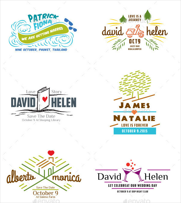 Hipster Wedding Labels Template