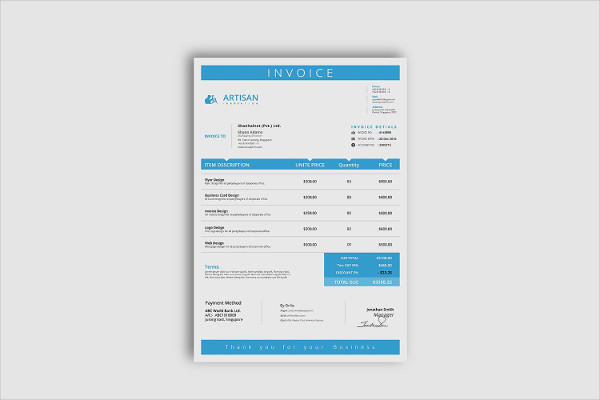 InDesign Business Invoice Template