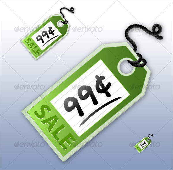 Realistic Price Tag Template