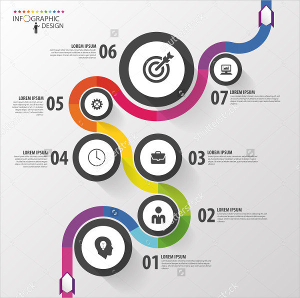Abstract Business Path Timeline Infographic