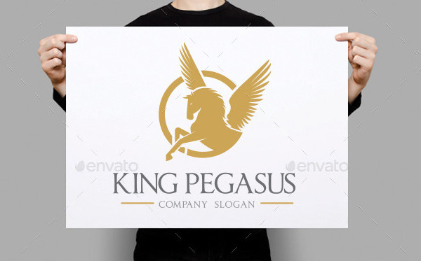 King Pegasus Logo Template