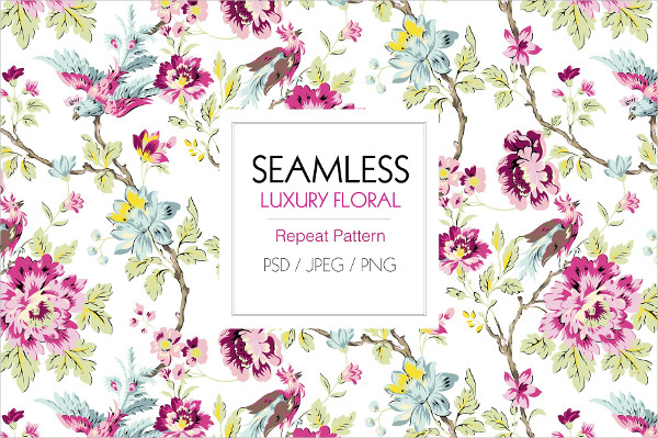 Seamless Luxury Transparent Pattern PSD